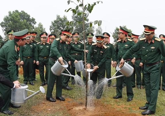 Bộ Quốc phòng phát động trồng cây hưởng ứng Chương trình trồng 1 tỷ cây xanh - Vì một Việt Nam xanh - ảnh 1