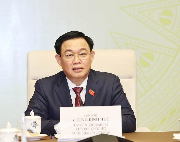 越南国会主席王庭惠与国防与安全委员会举行工作会议 - ảnh 1