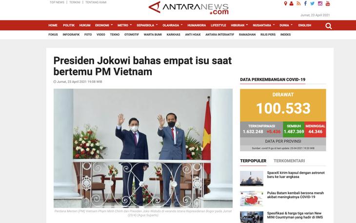 Truyền thông quốc tế: Lãnh đạo mới của Việt Nam thúc đẩy quan hệ Đối tác chiến lược với Indonesia - ảnh 1