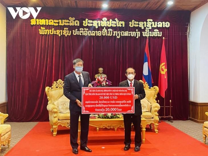 Thủ đô Hà Nội hỗ trợ tỉnh Luang Prabang (Lào) phòng chống dịch COVID-19 - ảnh 1