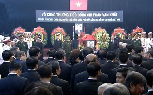 В г.Хошимине состоялась траурная церемония памяти экс-премьера Вьетнама Фан Ван Кхая - ảnh 1