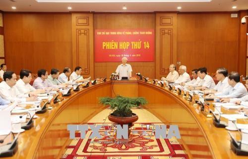 В Ханое состоялось 16-е заседание Центрального комитета по борьбе с коррупцией - ảnh 1