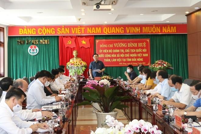 Выонг Динь Хюэ: Провинция Дакнонг должна воспользоваться своими преимуществами для развития - ảnh 1