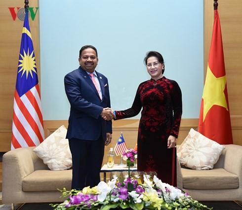 ประธานสภาแห่งชาติเวียดนามให้การต้อนรับคณะผู้แทนรัฐสภาอินโดนีเซียและมาเลเซีย - ảnh 1