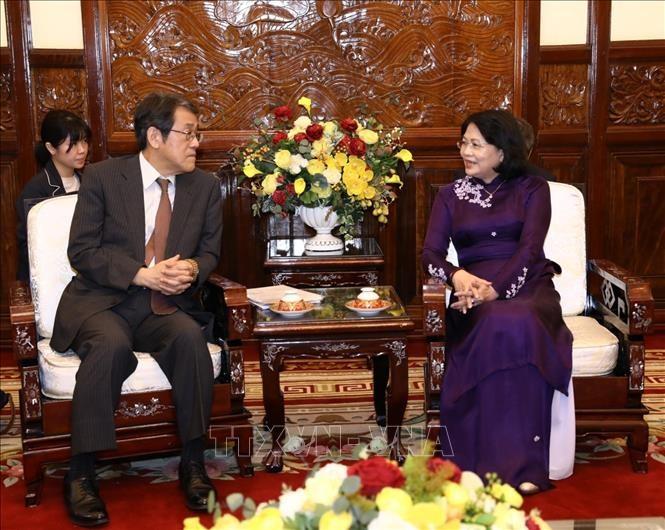 รองประธานประเทศดั๋งถิหงอกถิงให้การต้อนรับเอกอัครราชทูตญี่ปุ่นประจำเวียดนาม - ảnh 1