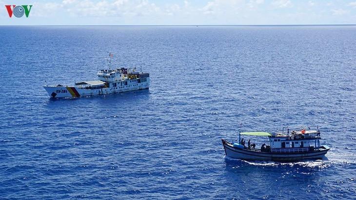 ชาวประมงจังหวัดบิ่งถวนยืนหยัดการออกทะเลจับปลาในเขตทะเลบริเวณหมู่เกาะเจื่องซา - ảnh 1