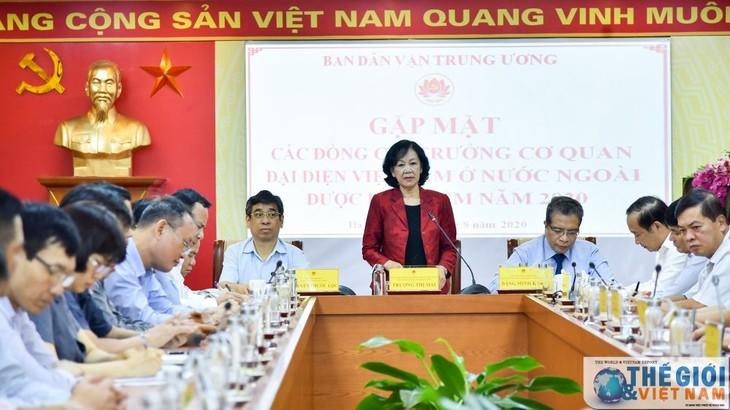 สำนักงานตัวแทนเวียดนามในต่างประเทศมีส่วนร่วมต่องานด้านการทูตของประเทศ - ảnh 1