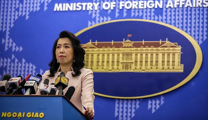 เวียดนามคัดค้านการกระทำที่ไม่ชอบด้วยกฎหมายของจีนในทะเลตะวันออก - ảnh 1