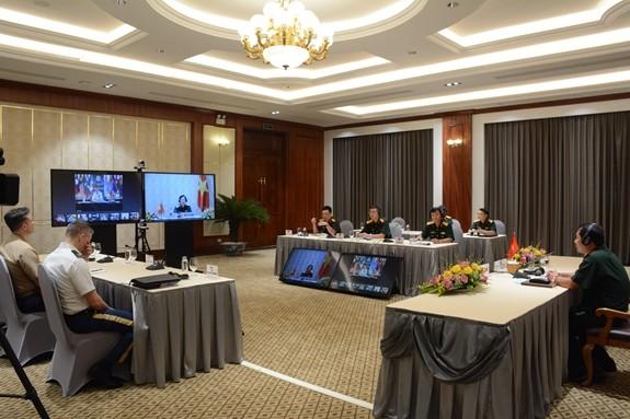 การประชุมผ่านวิดีโอคอนเฟอเรนซ์ผู้บัญชาการกลาโหมของประเทศต่างๆในมหาสมุทรอินเดีย-แปซิฟิก  - ảnh 1