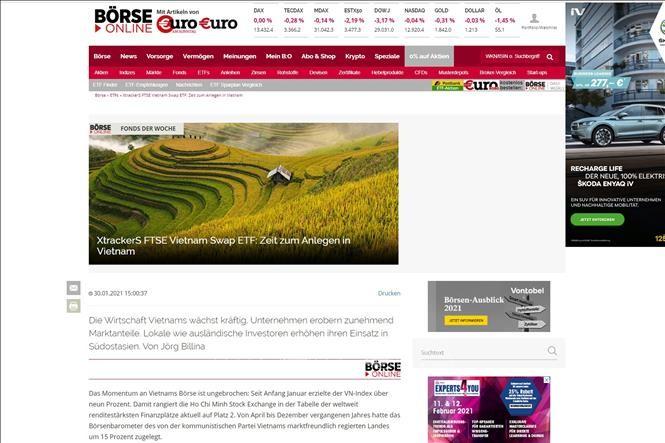 สื่อเยอรมนีเห็นว่า ถึงเวลาแล้วที่นักลงทุนควรแสวงหาโอกาสในเวียดนาม - ảnh 1