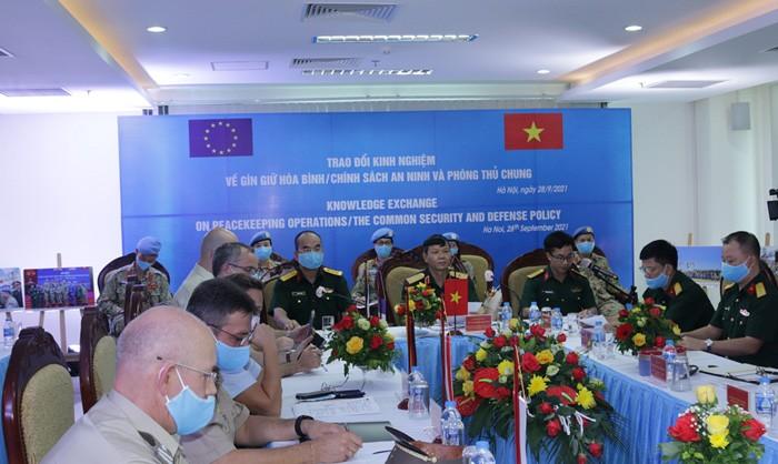 ผลักดันความร่วมมือระหว่างเวียดนามกับอียูเกี่ยวกับการรักษาสันติภาพและการป้องกันตนเองร่วม - ảnh 1
