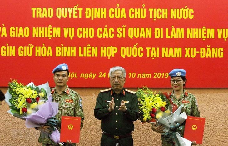 Vietnam schickt zusätzlich zwei Offiziere in den Südsudan für die UN-Friedensmission - ảnh 1