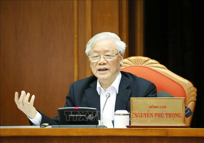 Top leader chairs national cadres conference - ảnh 1