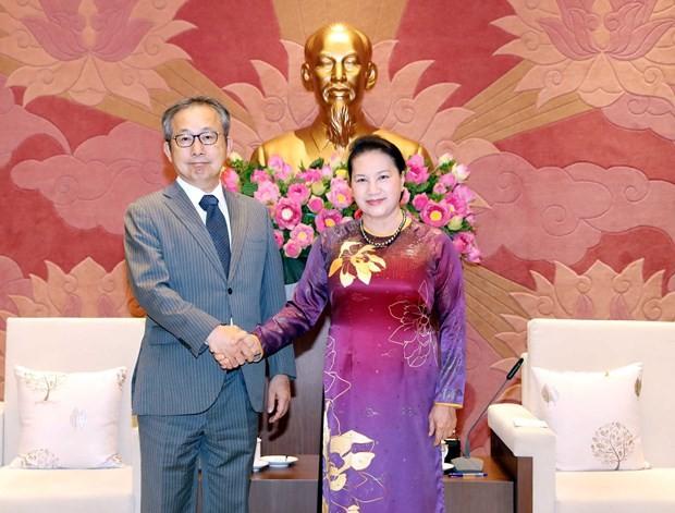 Top legislator receives Japanese ambassador - ảnh 1