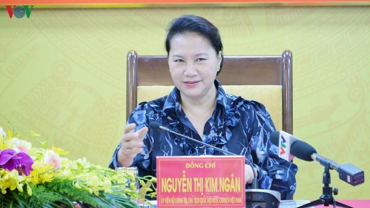 NA Chairwoman Nguyen Thi Kim Ngan visits Ba Ria-Vung Tau province - ảnh 1