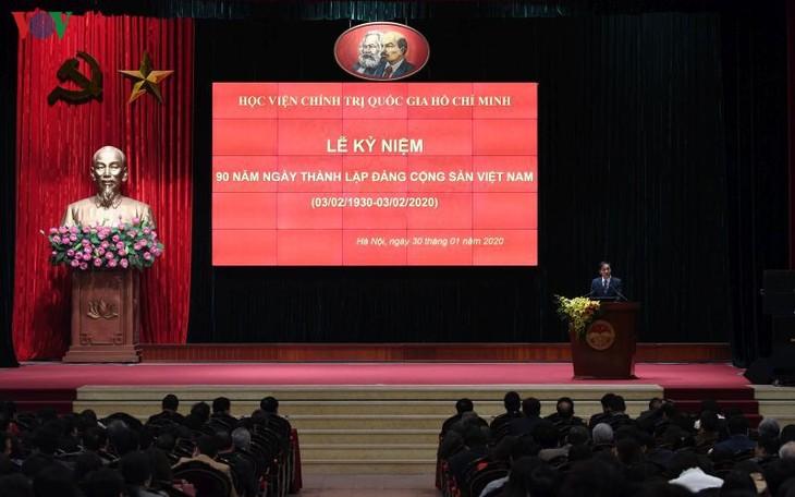 胡志明国家政治学院举行越南共产党建党90周年纪念活动 - ảnh 1
