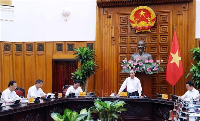 越南政府总理阮春福主持召开槟椥省领导班子会议 - ảnh 1