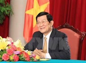 President Truong Tan Sang begins a visit to Laos  - ảnh 1