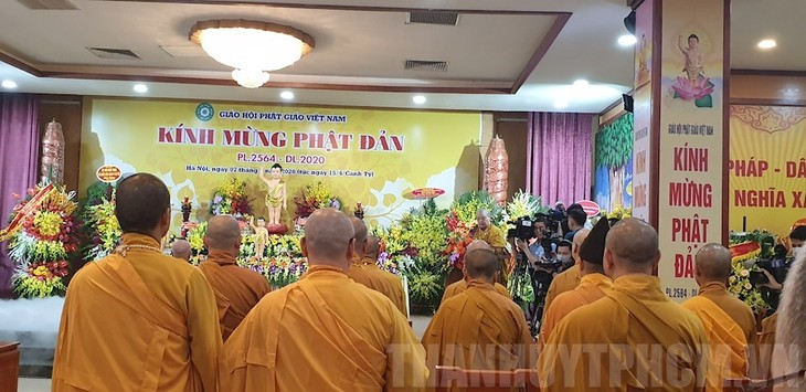 Religious activities resume with epidemic preventive measures in place - ảnh 1