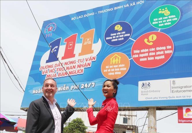 UK, Vietnam raise public awareness on human trafficking  - ảnh 1