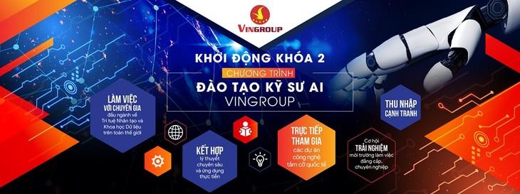 Vingroup launches AI engineers' training program  - ảnh 1