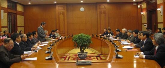 Líder partidista asiste a asamblea de balance de Consejo Teórico Central - ảnh 1