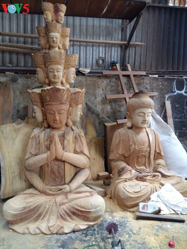 Aldea de escultura de estatuas de Vu Lang - ảnh 2