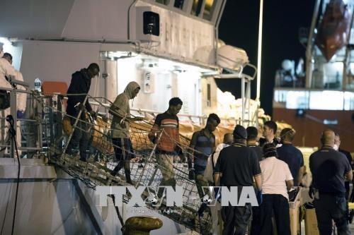 Italia acuerda recibir a los migrantes rescatados en el mar - ảnh 1