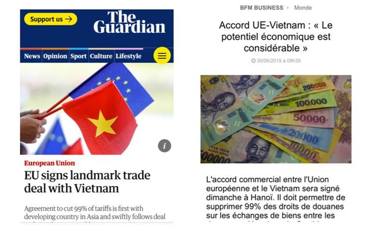 Prensa europea destaca la firma del acuerdo de libre comercio con Vietnam - ảnh 1
