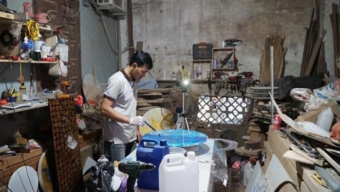 Luong Van Tuan y su proyecto de diseño con materiales reciclados - ảnh 2