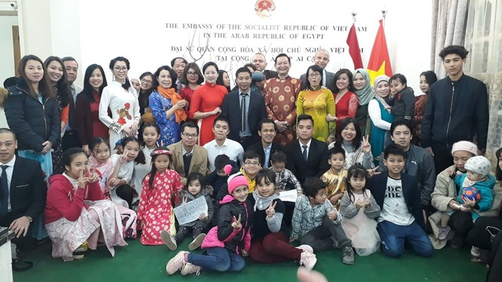 Comunidad vietnamita en Egipto festeja el Tet 2020 - ảnh 1