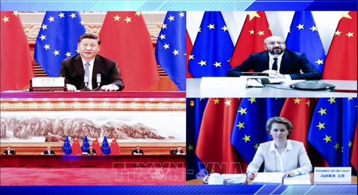 Conferencia virtual entre líderes de China y Unión Europea sobre relaciones bilaterales - ảnh 1