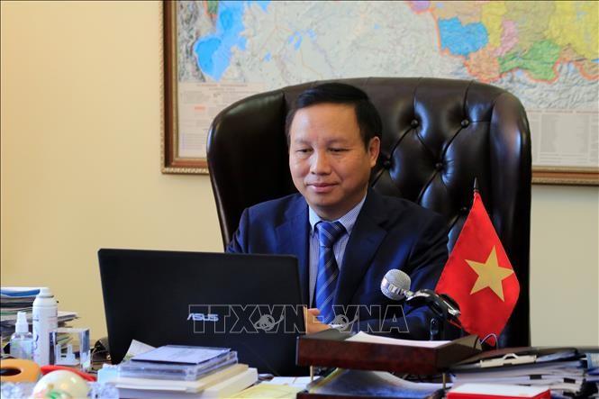 Embajadores de la Asean en Rusia aprecian papel de Vietnam en el contexto del covid-19 - ảnh 1