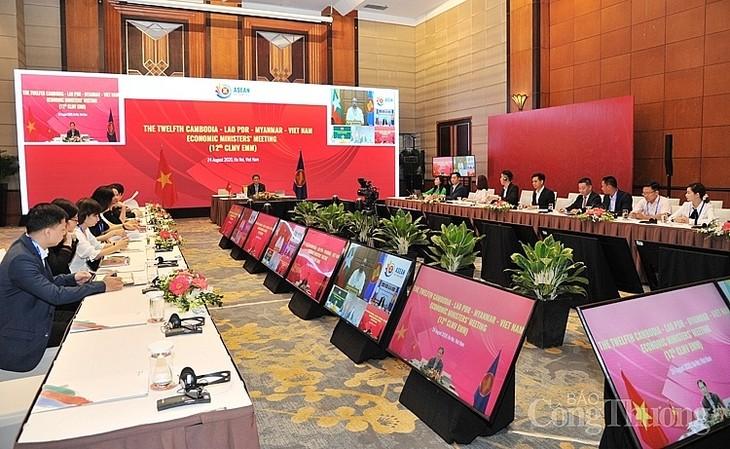 Inauguración de la Conferencia interministerial de Economía de Camboya, Laos, Myanmar y Vietnam  - ảnh 1