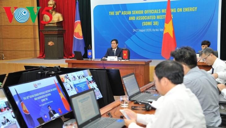 Vietnam preside la 38 Reunión virtual de Altos Funcionarios de Energía de la Asean - ảnh 1