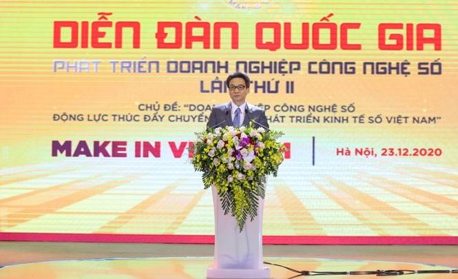 Viceprimer ministro insta a las empresas a desempeñar un papel pionero en el desarrollo de la economía digital - ảnh 1