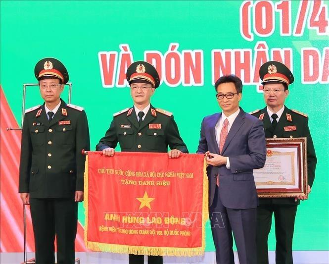 Hospital militar 108 recibe título de Héroe de Fuerzas Armadas Populares  - ảnh 1