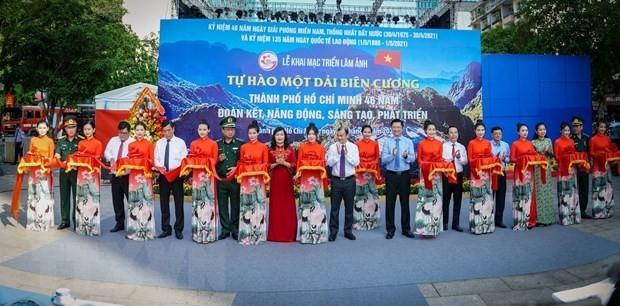 Presentan exposición fotográfica en Ciudad Ho Chi Minh por 46 aniversario de la Reunificación Nacional - ảnh 1