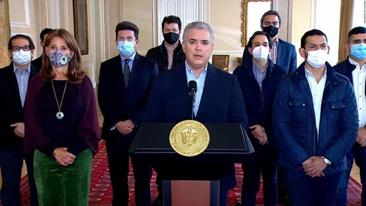 Presidente colombiano anuncia retirar reforma tributaria tras escalada de protestas - ảnh 1