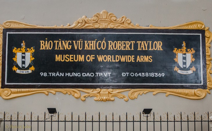 El Museo de Armas Antiguas Robert Taylor, un interesante destino en la ciudad de Vung Tau - ảnh 1