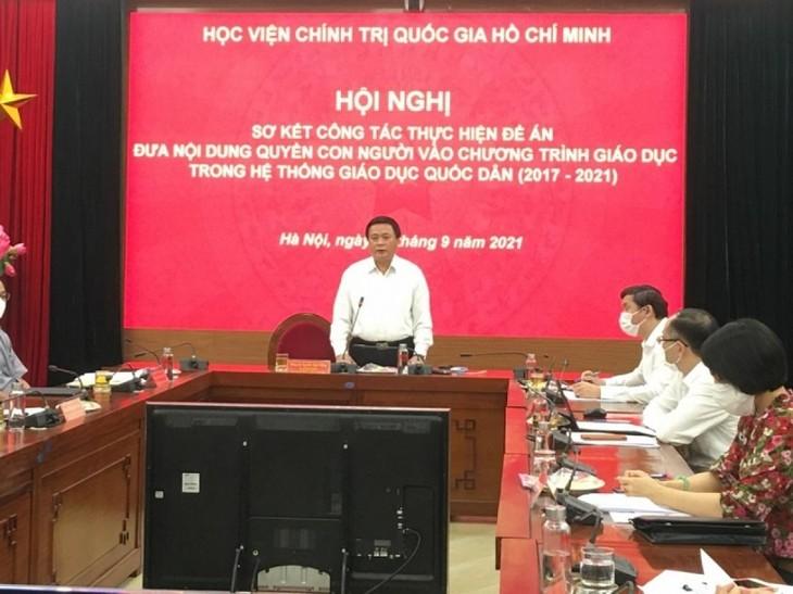 Vietnam pretende integrar el tema de derechos humanos en el sistema educacional del país - ảnh 1
