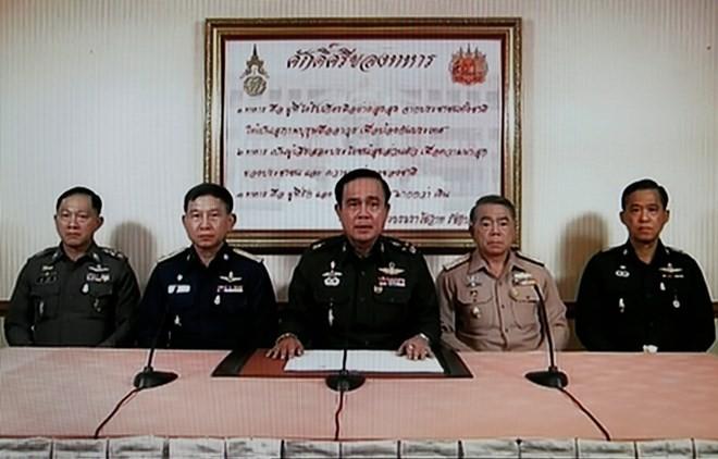 ผู้บัญชาการกองทัพบกไทยประกาศยึดอำนาจ - ảnh 1