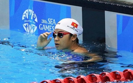 นักว่ายน้ำ เฟืองเชิมคว้า4เหรียญทองในการแข่งขันว่ายน้ำชิงแชมป์เอเชียตะวันออกเฉียงใต้ - ảnh 1