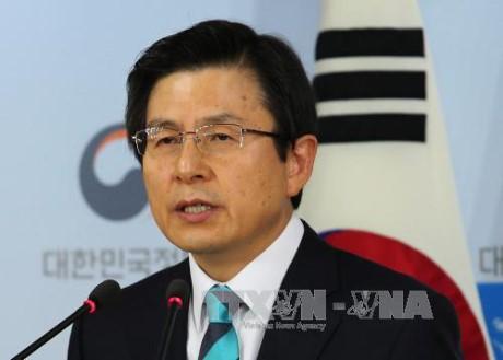 รักษาการประธานาธิบดีสาธารณรัฐเกาหลีประณามการพัฒนาความสามารถด้านขีปนาวุธของเปียงยาง - ảnh 1