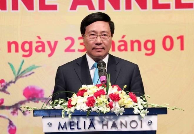 ทุกผลสำเร็จของเวียดนามในปี 2018 ล้วนมีส่วนร่วมของบรรดาเอกอัครราชทูต ตัวแทนและหัวหน้าสำนักงานตัวแทนขององค์การระหว่างประเทศ - ảnh 1