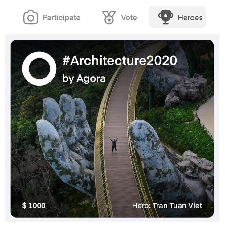 Cau Vang หรือสะพานทองที่ Ba Na Hills นครดานัง ติดรายชื่อสะพานที่สวยที่สุดในโลก - ảnh 2