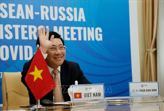 การประชุมผ่านวิดีโอคอนเฟอร์เรนซ์พิเศษรัฐมนตรีต่างประเทศอาเซียน-รัสเซียเกี่ยวกับการป้องกันและรับมือการแพร่ระบาดของโรคโควิด-19 - ảnh 1