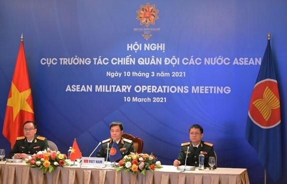การประชุมอธิบดีกรมปฏิบัติการแห่งกองทัพอาเซียนหรือ AMOM ครั้งที่ 11 - ảnh 1