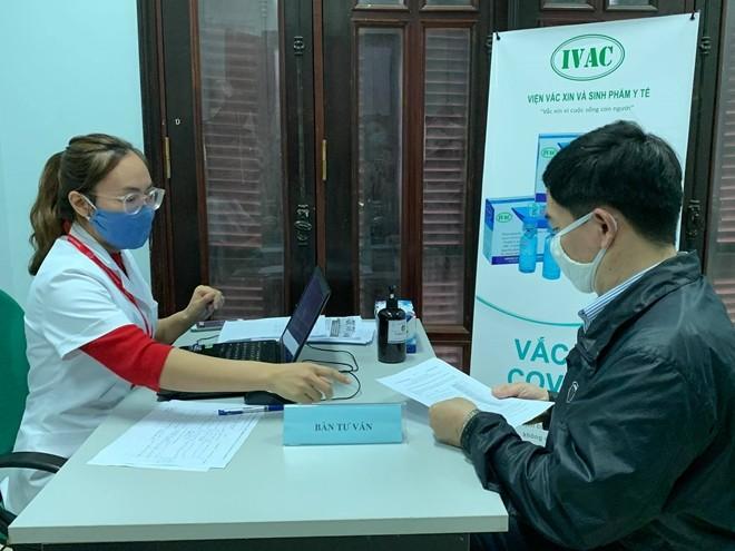 เวียดนามเริ่มทดสอบฉีดวัคซีนป้องกันโรคโควิด-19 ตัวที่ 2 - ảnh 1