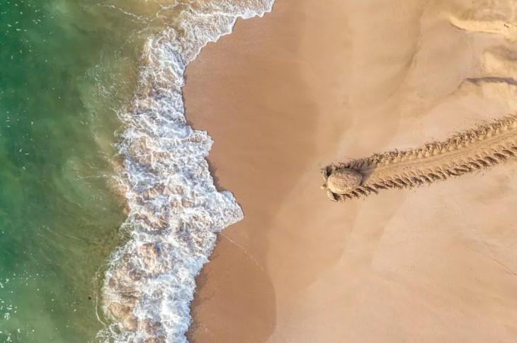 ภาพถ่ายบึงน้ำเค็ม ตามยาง ได้รับรางวัลที่ 1 ในการประกวดภาพถ่ายทางอากาศระหว่างประเทศ - ảnh 4